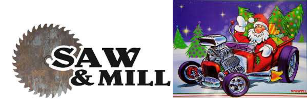 Saw and Mill Logo and Santa picture